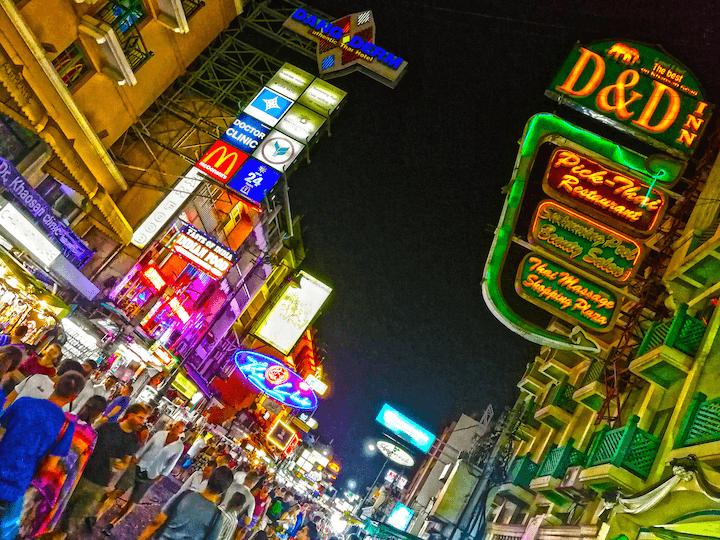 カオサンロード タイ バンコク 世界一種 旅行
