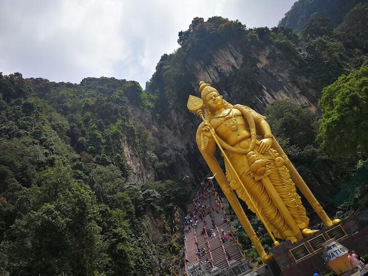 バトゥ洞窟 マレーシア クアラルンプール 旅 世界一周