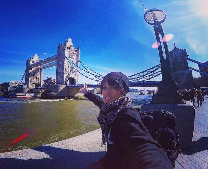 イギリス ロンドン 自撮り