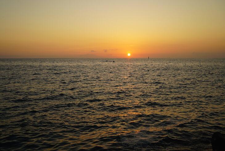 沖縄北谷 サンセットビーチ 夕日