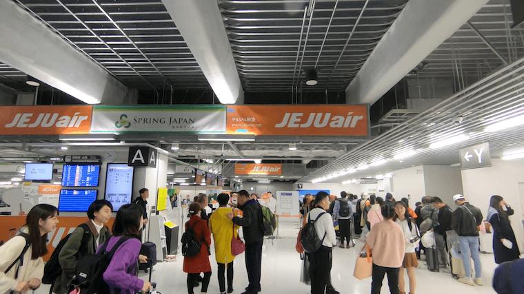チェジュ航空 グアム行き 成田第三ターミナル