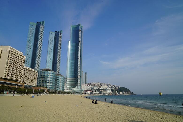 韓国釜山の海雲台ビーチ